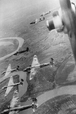 Japanese Warplanes Flying