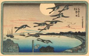Japanese Woodblock, Flying Geese
