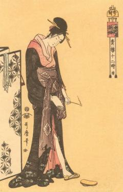 Japanese Woodblock, Geisha