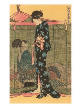 Japanese Woodblock, Geishas