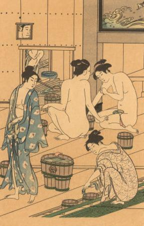 Japanese Woodblock, Public Baths
