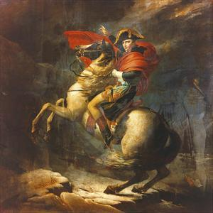 Modello For Napoleon Crossing The Alps by Jaques Louis David
