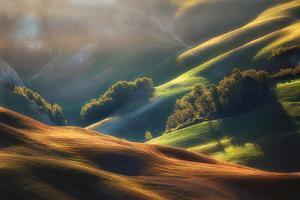 Tuscany Sunrise by Jarek Pawlak