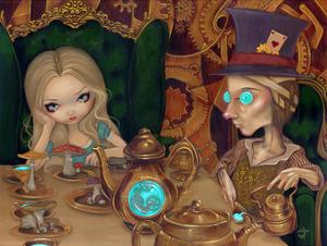 Alice and the Mad Hatter by Jasmine Becket-Griffith