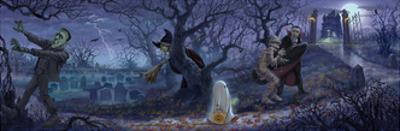 Halloween Scene by Jason Bullard