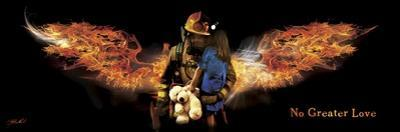 No Greater Love Fireman Rescue by Jason Bullard
