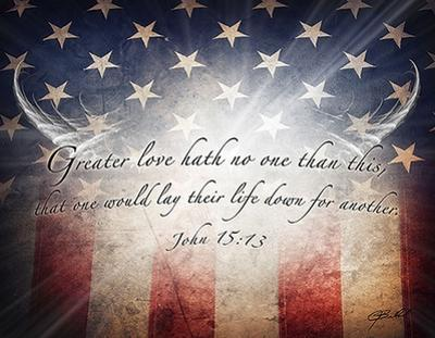 No Greater Love (flag) by Jason Bullard