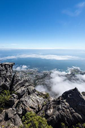A Boulder Field on the Summit of Table Mountain Overlooking Table Bay by Jason Edwards