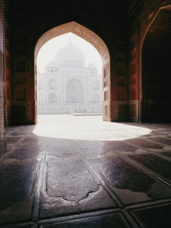 A View of the Taj Mahal from a Nearby Mosque
