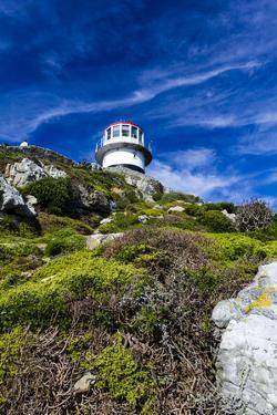 An Antique Lighthouse Summits a Cliff Near the Cape of Good Hope by Jason Edwards