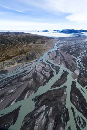 An Outwash Plain Created by a River Flowing with Meltwater and Sediment from a Glacier