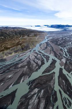 An Outwash Plain Created by a River Flowing with Meltwater and Sediment from a Glacier by Jason Edwards