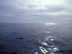 Calm Ocean with Small Ripples Reflects a Sunbeam Off the Surface, Australia by Jason Edwards