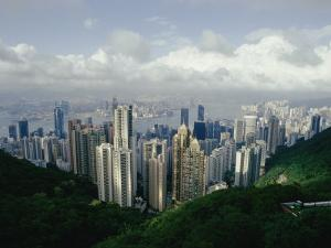 Hong Kong Island and the Bay with Kowloon on the Far Shore by Jason Edwards