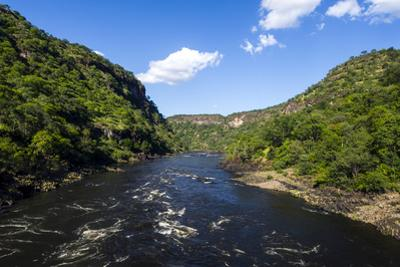 The Forest Slopes of a Winding Gorge Carved into a Flat Plain by the Zambezi River by Jason Edwards