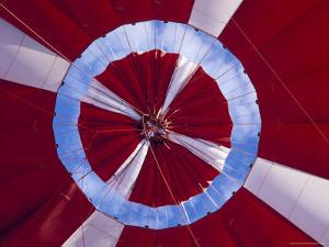 The Inflated Red Canopy of a Hot Air Balloon with the Blue Sky Behind, Australia by Jason Edwards