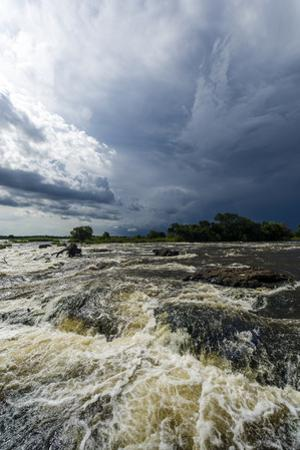 The Raging Current of the Zambezi River after Heavy Rain Falls by Jason Edwards