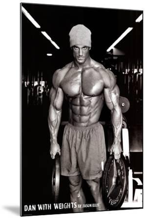 Jason Ellis Dan with Weights Art Print Poster