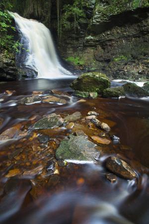Hareshaw Linn Waterfall, Bellingham, Northumberland National Park, Northumberland, North East Engla