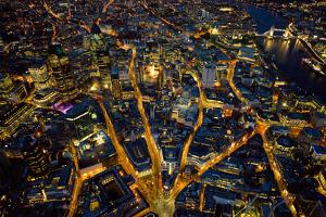 Aerial View of London at Night by Jason Hawkes