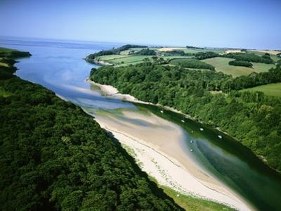 Aerial View of River Erme