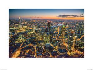 Jason Hawkes- London At Night by Jason Hawkes