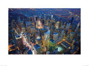 Jason Hawkes- Manhattan At Night by Jason Hawkes