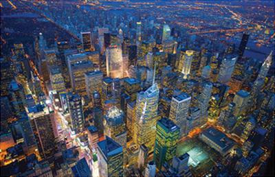 Jason Hawkes- Manhattan At Night