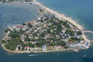 Luxury Houses on Sandbanks in Poole Harbor by Jason Hawkes