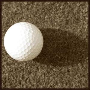Sepia Golf Ball Study III by Jason Johnson