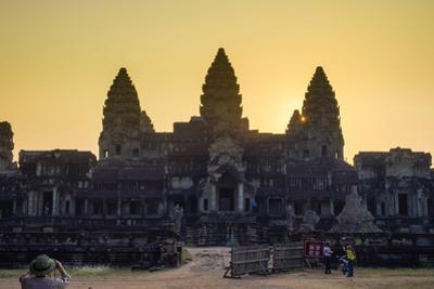 Angkor Wat at Sunset, UNESCO World Heritage Site, Siem Reap Province, Cambodia, Indochina by Jason Langley