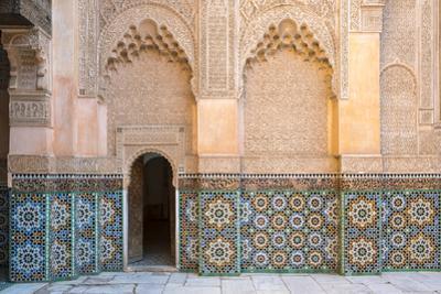 Ben Youssef Madrasa, 16th century Islamic College, UNESCO World Heritage Site, Marrakesh, Morocco,  by Jason Langley
