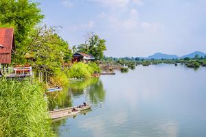Buildings Along the Mekong River at Don Det, Si Phan Don (Four Thousand Islands) by Jason Langley