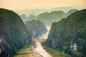 Karst mountain landscape at Hang Mua, Ninh Hai, Hoa Lu District, Ninh Binh Province, Vietnam by Jason Langley