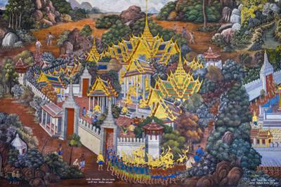 Murals Depicting Scenes from the Ramakien, Temple of the Emerald Buddha (Wat Phra Kaew) by Jason Langley