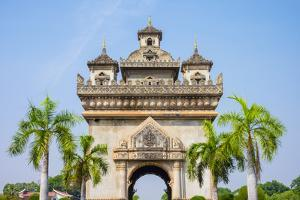 Patuxi (Victory Gate) monument, Vientiane, Laos, Indochina, Southeast Asia, Asia by Jason Langley