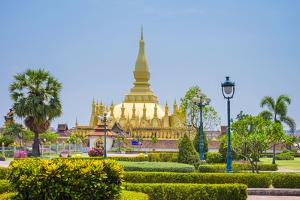 Pha That Luang Golden Stupa, Vientiane, Laos, Indochina, Southeast Asia, Asia by Jason Langley