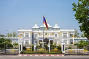 Presidential Palace, Official Residence of the President of Laos, Vientiane, Laos, Indochina by Jason Langley