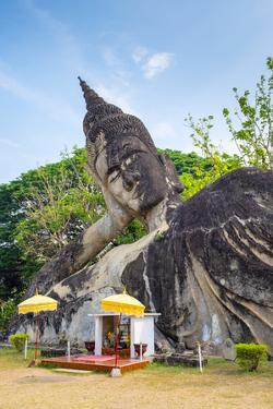 Religious Statues at Buddha Park (Xieng Khuan), Vientiane, Laos, Indochina, Southeast Asia, Asia by Jason Langley