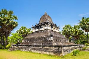 Singhalese Style That Makmo Stupa in Front of Wat Wisunalat, Luang Prabang, Louangphabang Province by Jason Langley