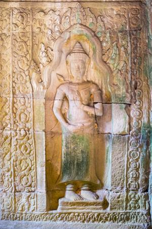 Stone Carvings at Prasat Preah Khan Temple Ruins, Angkor, UNESCO World Heritage Site by Jason Langley