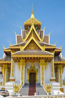 Vientiane City Pillar Shrine, Vientiane, Laos, Indochina, Southeast Asia, Asia by Jason Langley