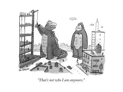 """""""That's not who I am anymore."""" - New Yorker Cartoon"""