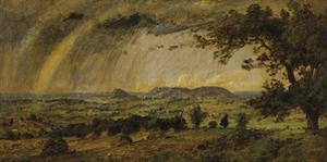 A Passing Shower over Mountain Adam and Eve by Jasper Francis Cropsey