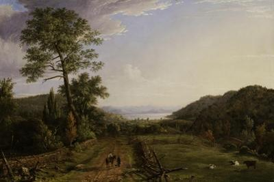 Country Lane to Greenwood Lake, 1846 by Jasper Francis Cropsey