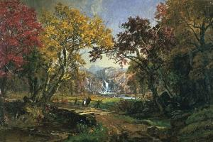 Couple on a Bridge, 1876 by Jasper Francis Cropsey