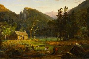 Eagle Cliff, Franconia Notch, New Hampshire, 1858 by Jasper Francis Cropsey