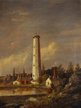 Shot Tower, 1845 by Jasper Francis Cropsey