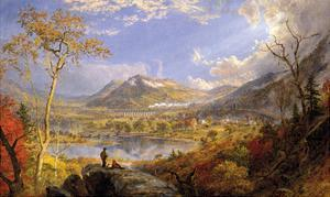 Starrucca Viaduct, Pennsylvania, 1865 by Jasper Francis Cropsey