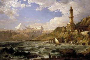 The Coast of Genoa, 1854 by Jasper Francis Cropsey